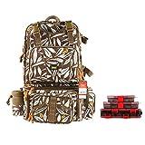 Kingdomfishing Multifunctional Fishing Backpack Tackle Bag Detachable Combination Lure Backpacks Fishing Gear Storage Shoulder Handbags with Phone Bag …