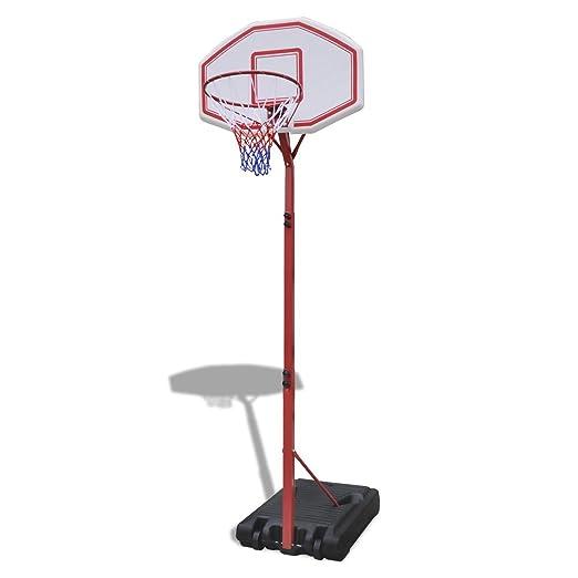 6 opinioni per vidaXL Canestro da basket con pannello di supporto regolabile