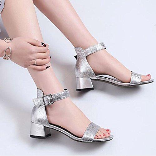 Ms Di Toe Di Tacco Involucro Medio Open Scarpe Massima Tacco Estivi Dei Modo Di 1 Pistoni Sandali qfptng44