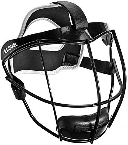 All-Star Vela Pitcher Infielder Fastpitch Protection Mask (Black)