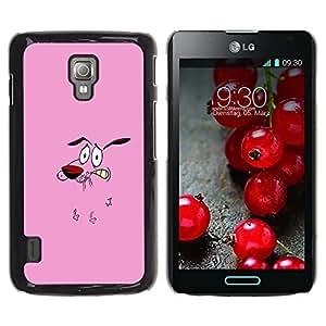 Be Good Phone Accessory // Dura Cáscara cubierta Protectora Caso Carcasa Funda de Protección para LG Optimus L7 II P710 / L7X P714 // Dog Pink Face Cartoon Character Animation