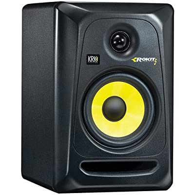 "KRK Rokit 5 G3-50W 5"" Two-Way Active Studio Monitor (Single, Black) with IP-S Isolation Pad for Studio Monitor and XLR Cable by KRK"