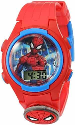 Marvel Boys' Quartz Plastic Strap, red, 15 Casual Watch (Model: SPD4452)