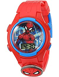 Boys' Quartz Plastic Strap, red, 15 Casual Watch (Model: SPD4452
