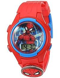 Marvel - Reloj casual de cuarzo para niño, plástico, color rojo (modelo: SPD4452)