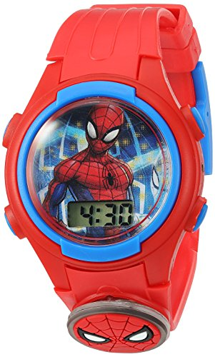 Marvel Boy's Quartz Plastic Casual Watch, Color:Red (Model: SPD4452)