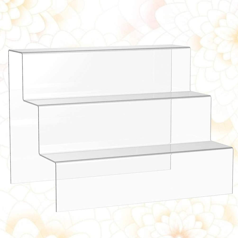VOSAREA - Expositor acrílico de 3 Capas para Amiibo Funko Pop, números mostradores, Armario para Tartas, Cupcakes, Soporte de 30 cm: Amazon.es: Hogar