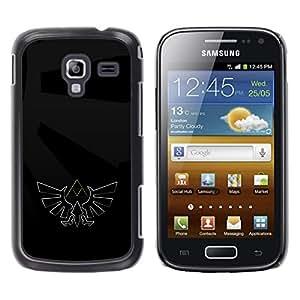 EJOY---Cubierta de la caja de protección la piel dura para el / Samsung Galaxy Ace 2 / --Oscura Águila Sigil