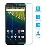 TNP Google Nexus 6P Screen Protector Tempered Glass Ultra Clear 0.33mm 9H Hardness 2.5D Premium Anti Scratch Fingerprint Hard Screen Film Cover Shield Guard for 2015 Huawei Google Nexus 6P 5.7""