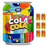 AMOS 4D Gummy Cola Coco Sour Burst Candy Mini Cola Can Shape 6 Oz Per Bag(Pack of 12)