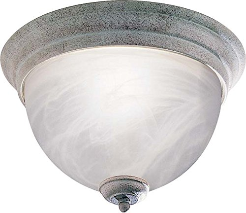 Volume Lighting V7610-85 1-Light Semi-Flush Ceiling Mount, Platinum - Ceiling Semi Platinum Flush Lamp
