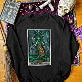 The High Priestess Tarot Card Sweatshirt Medusa Gorgon Greek Mythology Witch Clothing Plus Size Women Horror Sweater Witchy Sweatshirt Gift