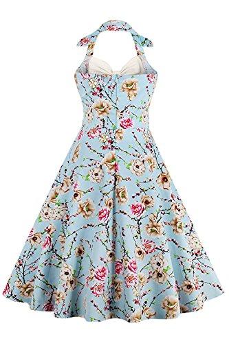 Soire Blanc Licou Hepburn Robe Grande Rtro Swing de par Impression anne Vintage Babyonlinedress Taille Rockabilly 1950 Cocktail Audrey 5wHBfHq