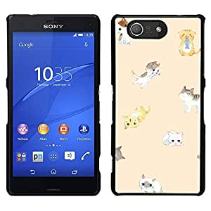 [Neutron-Star] Snap-on Series Teléfono Carcasa Funda Case Caso para Sony Xperia Z4v / Sony Xperia Z4 / E6508 [Cute Kittens Peach Cat Yellow Kids Pet]