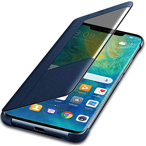 970bc2dd6db Huawei Mate 20 Pro Case, Windcase Slim Leather Smart View Flip Case Cover  for Huawei