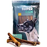 12-inch MEGA Monster Bully Sticks [ 7 Pack ] 100% Natural dog treats. EXTRA-LARGE Bully Sticks for Aggressive Chewers and large dogs