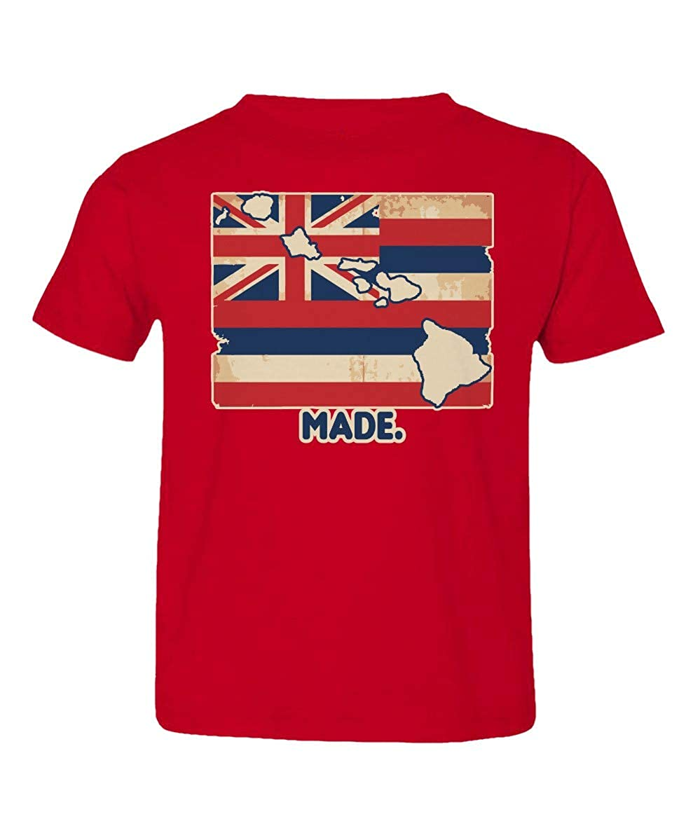 Societee Made in Hawaii Flag Honolulu Oahu Maui Cute Little Kids Girls Boys Toddler T-Shirt