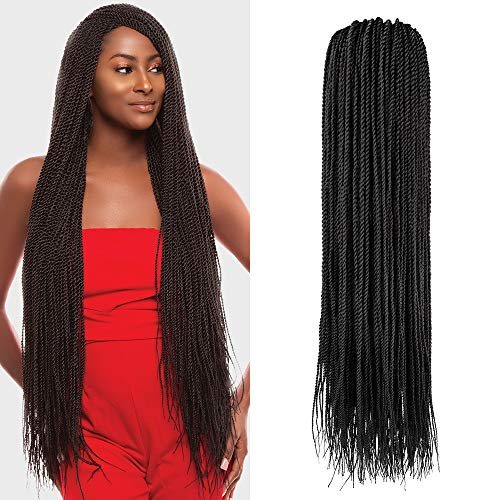 Multi-Pack Deals! Authentic Synthetic Hair Crochet Braid Pre-Stretched Loop Senegalese Twist Braid 32