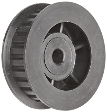 Timing Belt Pulley Lexan Polycarbonate, 3mm Pitch, 15.4mm Diameter, 4mm Bore, Double Flange, 9mm Wide Belt