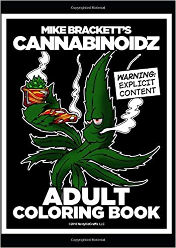 Mike Bracketts Cannabinoidz An Adult Coloring Book for Cannabis