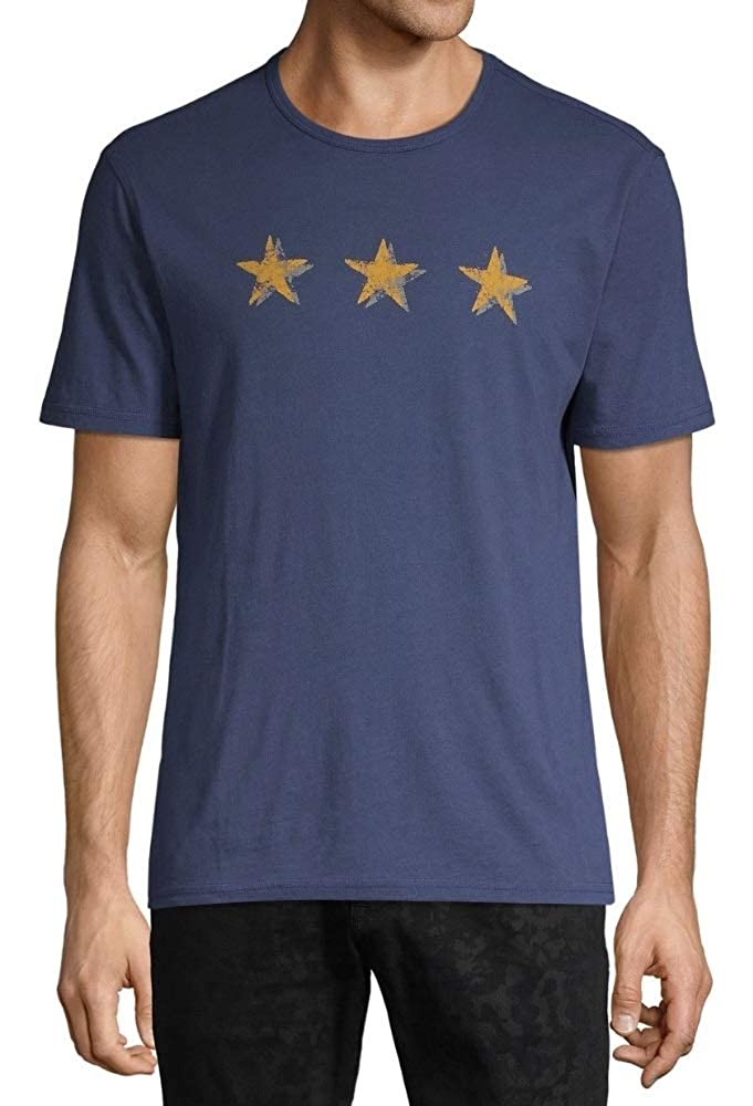 John Varvatos Star USA Mens Faded 3 Stars Graphic Crew T-Shirt