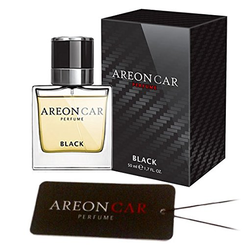 (Areon Car Perfume 1.7 Fl Oz. (50ml) Glass Bottle Cologne Air Freshener, Black)