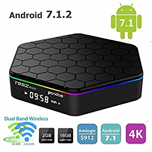 Android 7.1 TV Box,Pendoo T95Z Plus Android Box 2GB+16GB Dual WIFI 2.4GHz/5GHz 1000M LAN Amlogic S912 Octa-Core Supporting 4K (60Hz) Full HD