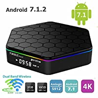 Android 7.1 TV Box,T95Z Plus Android Box 2GB+16GB Dual WIFI 2.4GHz/5GHz 1000M LAN Amlogic S912 Octa-Core Supporting 4K (60Hz) Full HD