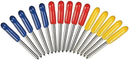 HELEISH 15pcs 30 45 cuchillas del trazador del corte del cortador de 60 grados para el trazador de Mimaki Herramienta accesoria