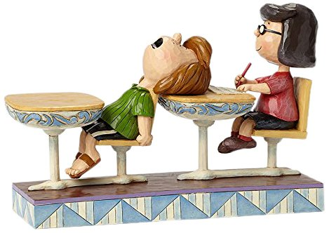 (Jim Shore Peanuts School Days Marcie and Peppermint Patty Figurine 4049416 New)