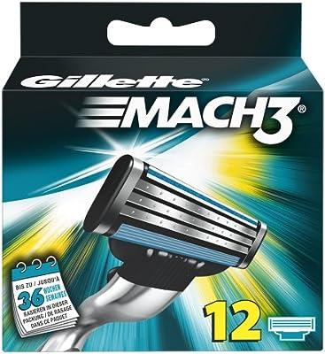 Gillette MACH3 - Maquinillas de afeitar para hombre, 12 unidades ...