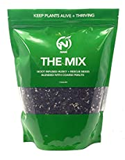Noot Organic Indoor House Plant Soilless Potting Mix Coconut Coir Coarse Perlite with Mycorrhizae. Succulent, Houseplant, Monstera, Orchid, Fiddle Leaf Fig, Cactus. 3.8L Resealable Bag
