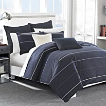 Nautica 217312 Southport Duvet Cover Set, Full/Queen, Blue/White