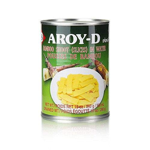 Aroy-D, Bamboo Shoots (Slices) in Water, 19 oz by Aroy-D