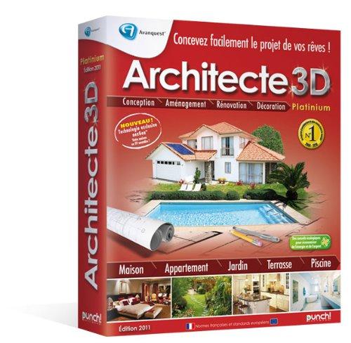 Telecharger architecte 3d dition platinium 2011 gratuit for Architecte 3d amazon