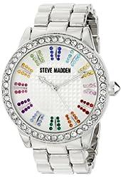 Steve Madden Women's SMW00010-41 Analog Display Quartz Silver Watch