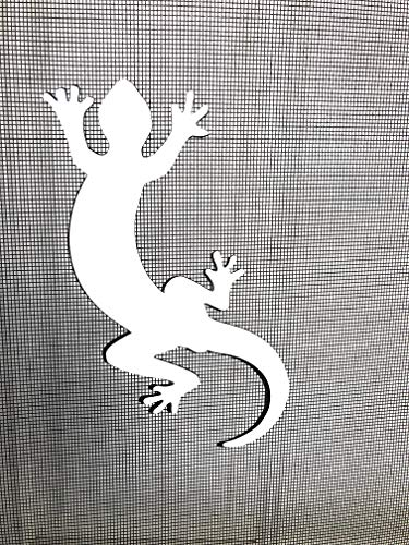 DCentral Gecko Screen Magnet: Double-Sided Decor; for Non-Retractable Screens, Multipurpose, Helps to Stop Walking into Screens, Covers Small tears in Screens. Size 3.5