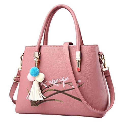 Bolsos Bolsas Yy.f Nueva Ola De Los Estereotipos Femeninos Damas Ambiente Elegante Bolsas Bolsa De Mensajero Del Hombro De Múltiples Colores Pink