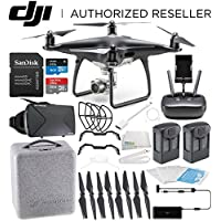 DJI Phantom 4 PRO Obsidian Edition Drone Quadcopter (Black) Virtual Reality Experience VR Essential Bundle