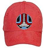 Jidlg Custom Washed Man Cotton The Last Starfighter Symbol Adjustable Baseball Caps Red