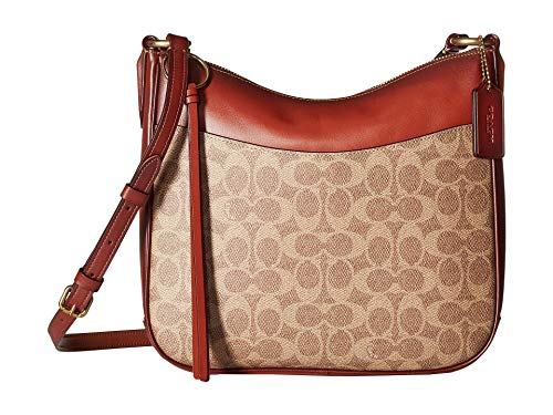 COACH Women's Coated Canvas Signature Chaise Crossbody B4/Tan Rust One Size