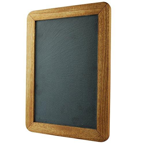 Lockways Slate Chalk board Blackboard - Chalkboard 14 x 10, Rustic Vintage Decor Wooden Frame, Sign Blackboard for Kitchen, Restaurant, Bar Countertop, Wedding, Party, Wall, Home