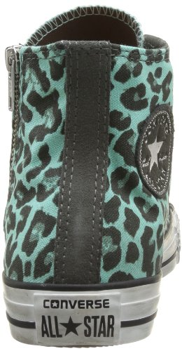 Zip Converse Distresse Charcoal Erwachsene Unisex Sneaker Ocean Canvas Star All Spots Side Hi qZwZr4I