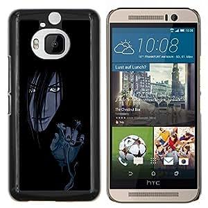 KLONGSHOP // Cubierta de piel con cierre a presión Shell trasero duro de goma Protección Caso - Mal Chica Anime - HTC One M9Plus M9+ M9 Plus //