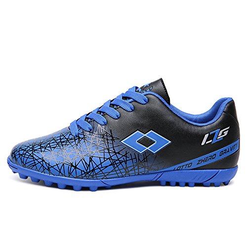 XING Lin Fußball Schuhe Broken Nägel Fußball Schuhe Studenten Slip Jungen und Mädchen Leder Füße Kinder Kinder und Jugend Fußball Schuhe blau