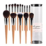vela.yue Pro Makeup Brushes Set 15pcs Travel Face Cheek Eyes Lips Beauty Tools Kit with Case Cruelty-free Super Soft Technique Collections