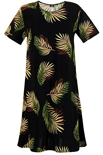 Abstract Print Dress (Jostar Women's Stretchy Missy Dress Short Sleeve Print X-Large Olive Abstract)