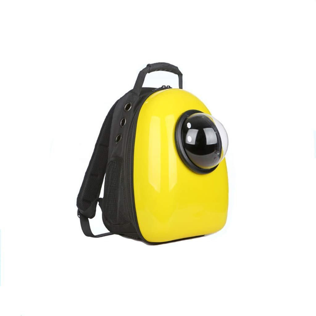 HAO Solid color breathable pet space capsule pet cat dog backpack breathable pet out portable backpack