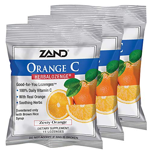 Dry Citrus Lozenges Mouth (Zand Herbalozenge, Orange/Vitamin C, 15 Count (Pack of 3))