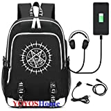 YOYOSHome Luminous Japanese Anime Cosplay Daypack Bookbag Laptop Bag Backpack School Bag with USB Charging Port (Black Butler)
